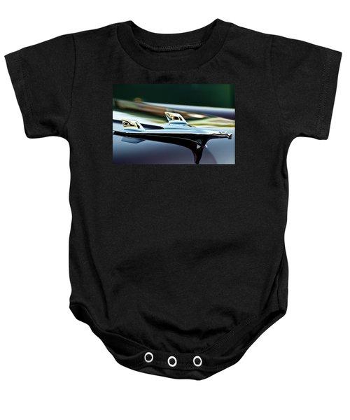 1956 Chevy Belair Hood Ornament Flying 1 Baby Onesie