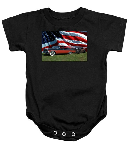 1958 Dodge Coronet And 1935 International Dragster Baby Onesie