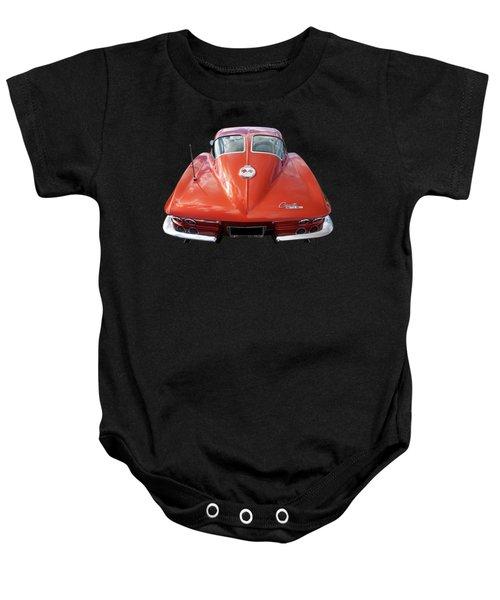 1963 Corvette Stingray Split Window Rear Baby Onesie