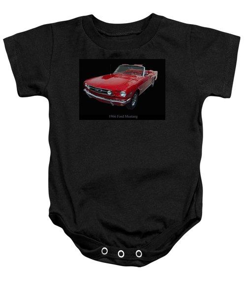 1966 Ford Mustang Convertible Baby Onesie