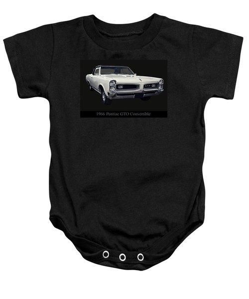 1966 Pontiac Gto Convertible Baby Onesie