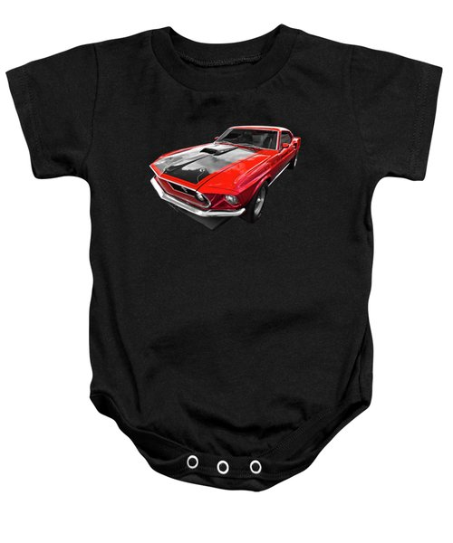 1969 Red 428 Mach 1 Cobra Jet Mustang Baby Onesie