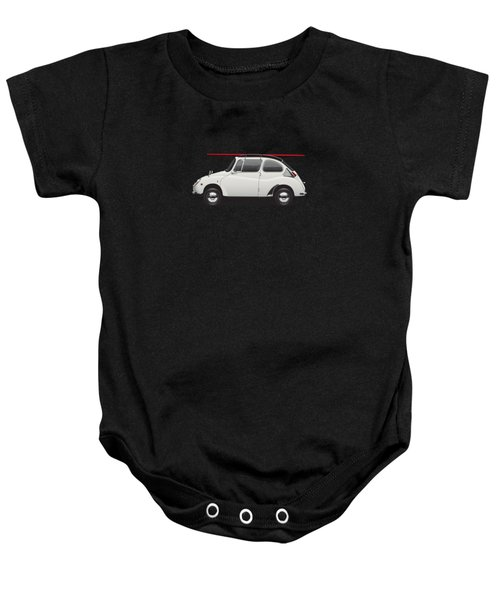 1969 Subaru 360 Young Ss - Creme Baby Onesie