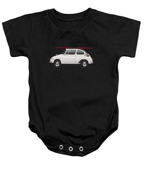 1969 Subaru 360 Young Ss - Creme Baby Onesie