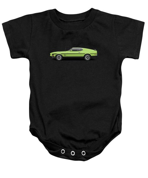 1971 Ford Mustang Mach 1 - Grabber Lime Baby Onesie