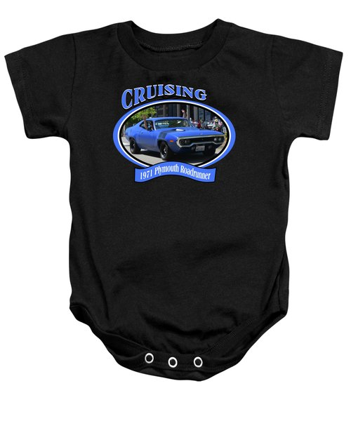 1971 Plymouth Roadrunner Hedman Baby Onesie by Mobile Event Photo Car Show Photography