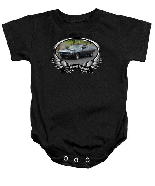 1972 Plymouth Roadrunner Grow Baby Onesie