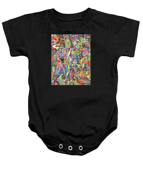 Animated Perspective Of Nocturnal Wandering Baby Onesie