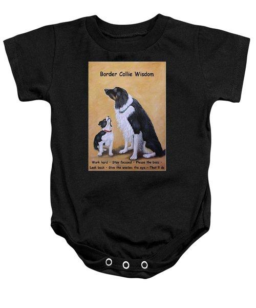 Border Collie Wisdom Baby Onesie