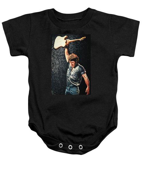 Bruce Springsteen Baby Onesie by Taylan Apukovska