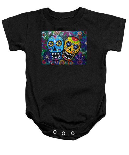 Couple Day Of The Dead Baby Onesie