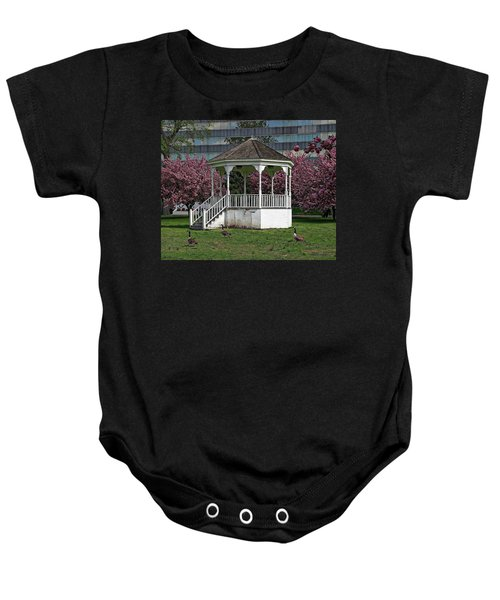 Gazebo In The Park Baby Onesie