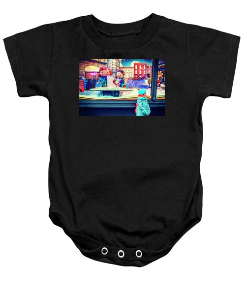 Holiday Widow Display In New York Baby Onesie