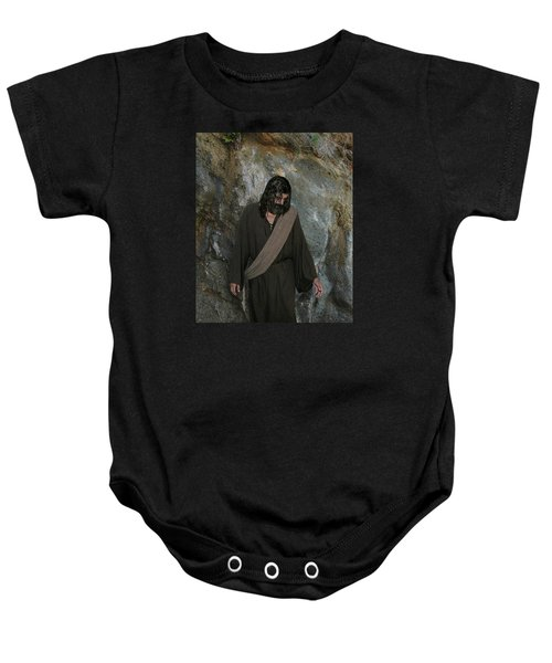 Jesus Christ- Rise And Walk With Me  Baby Onesie