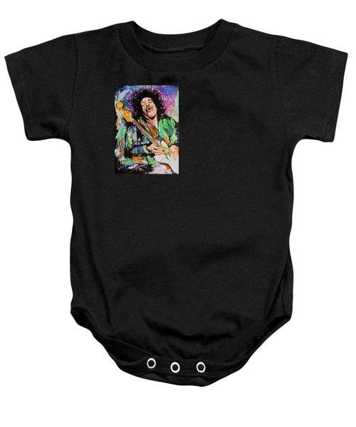 Jimi Hendrix Baby Onesie by Richard Day