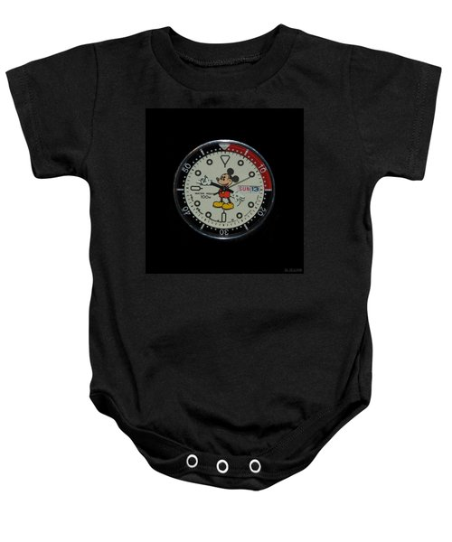 Mickey Mouse Watch Face Baby Onesie