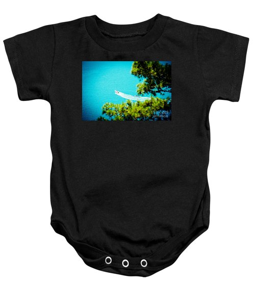 Pine Forest Over Sea Seascape Artmif.lv Baby Onesie