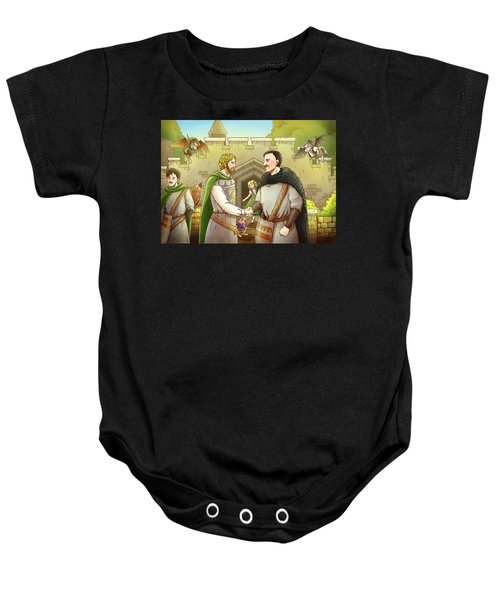 Robin Hood And The Captain Of The Guard Baby Onesie