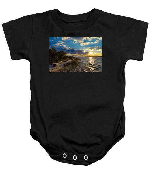 Sunset On The Cape Fear River Baby Onesie