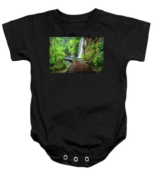 Walking Through Waterfalls - Plitvice Lakes National Park, Croatia Baby Onesie