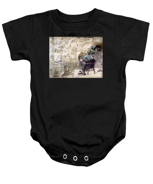 Charles Dickens 1812-1870.  To License For Professional Use Visit Granger.com Baby Onesie