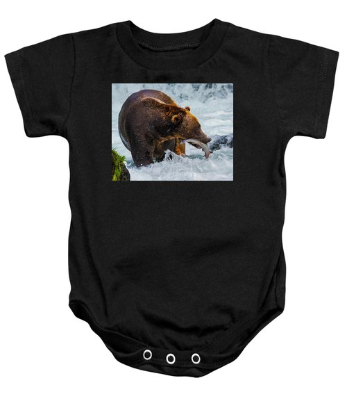 Alaska Brown Bear Baby Onesie