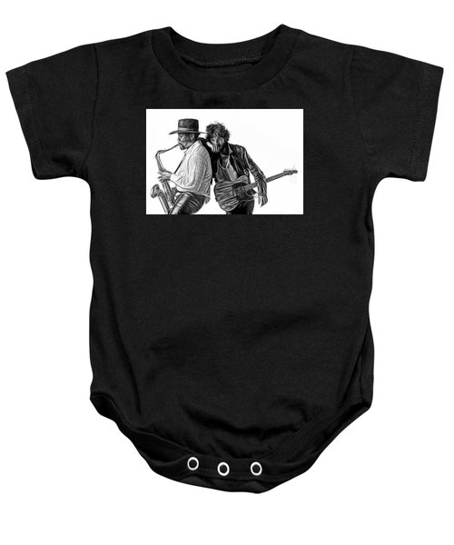 Bruce Springsteen Clarence Clemons Collection Baby Onesie