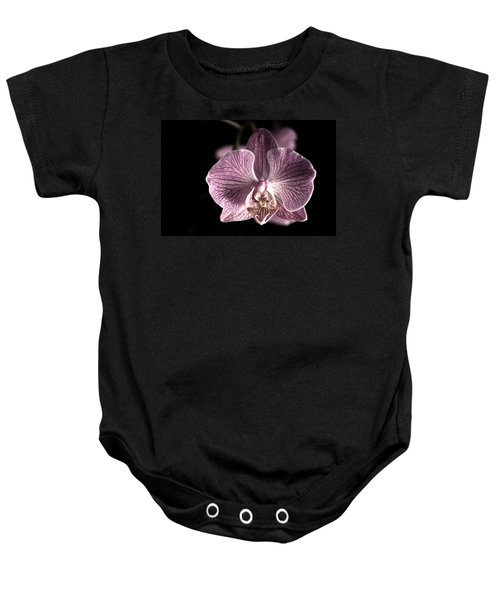 Close Up Shoot Of A Beautiful Orchid Blossom Baby Onesie