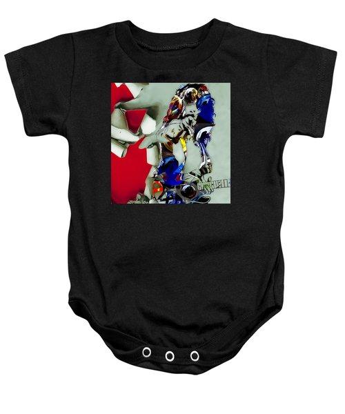 Eddie Van Halen Art Baby Onesie