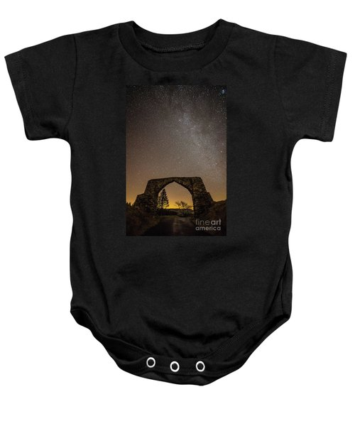 The Milky Way Over The Hafod Arch, Ceredigion Wales Uk Baby Onesie