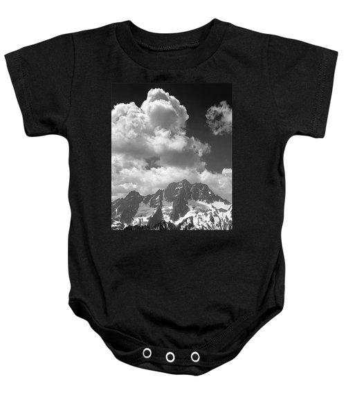 304638 Clouds Over Mt. Stuart Bw Baby Onesie