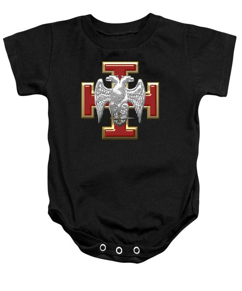 30th Degree Mason - Knight Kadosh Masonic Jewel  Baby Onesie