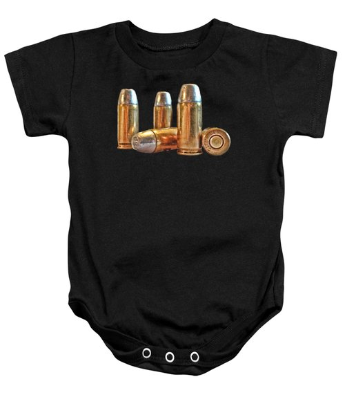 32 Caliber Bullet Print Baby Onesie