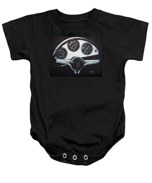 356 Porsche Dash Baby Onesie