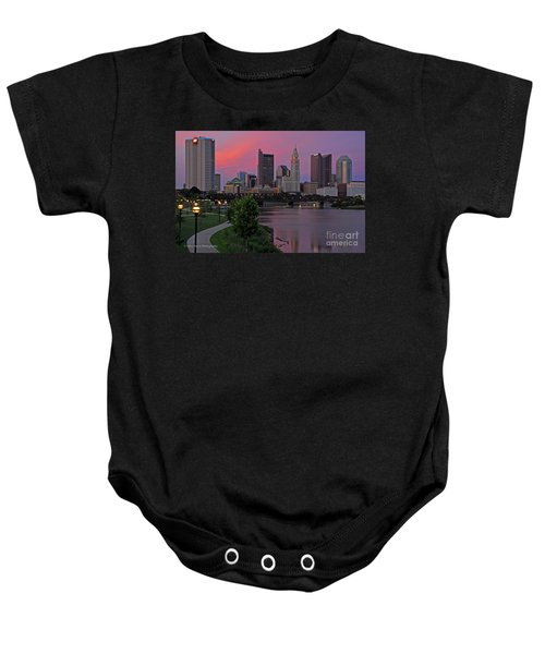 D2l37 Columbus Ohio Skyline Photo Baby Onesie