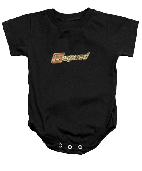 5 Speed Chrome Emblem Baby Onesie