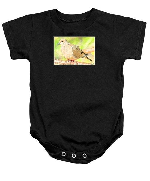 Mourning Dove Animal Portrait Baby Onesie