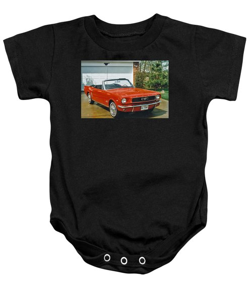 66 Mustang Convertable Baby Onesie