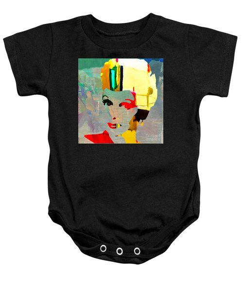 Baby Onesie featuring the mixed media Lucille Ball by Marvin Blaine
