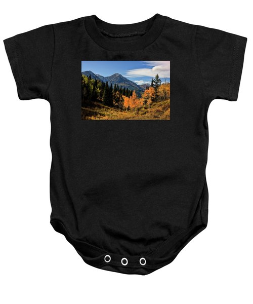 Rocky Mountain Fall Baby Onesie