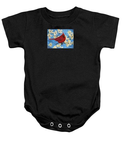 A Cardinal Spring Baby Onesie