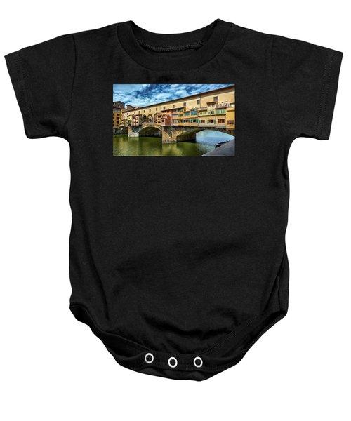 A Closer Look To Ponte Vecchio Baby Onesie