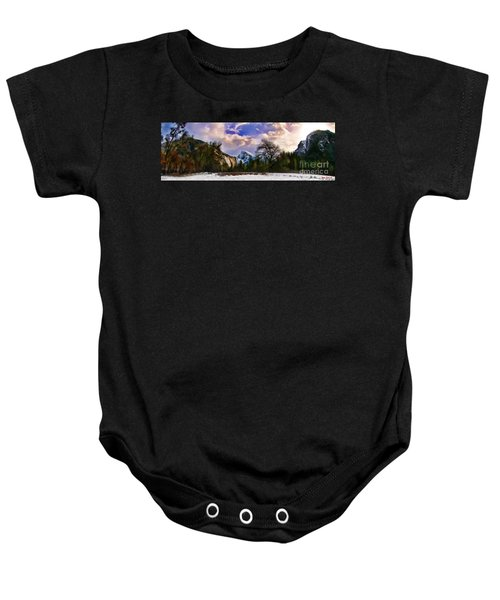 A Cold Yosemite Half Dome Morning Baby Onesie
