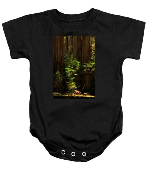 A Deer In The Redwoods Baby Onesie