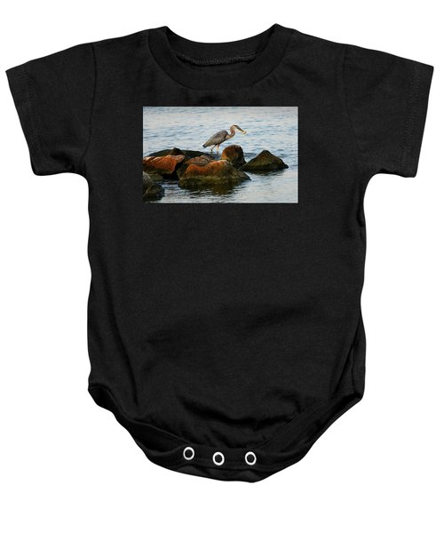 A Great Blue Heron Day Baby Onesie
