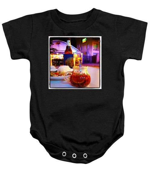 Baby Onesie featuring the photograph A Little Dab Will Do Yah. It's Sliced by Mr Photojimsf