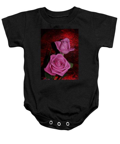 A Pair Of Pink Roses Baby Onesie