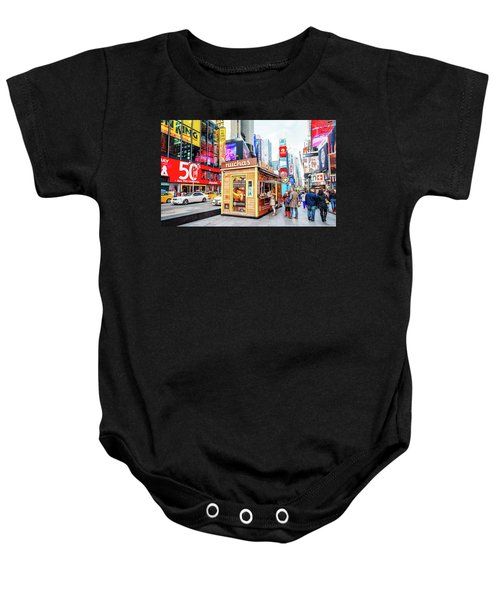 A Portable Food Stand In New York Times Square Baby Onesie