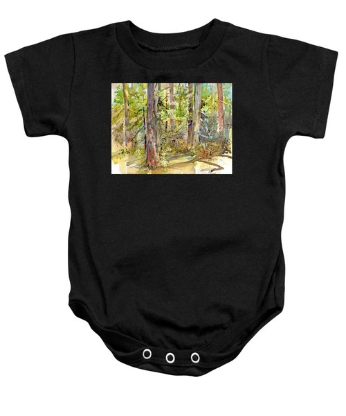A Stand Of Trees Baby Onesie