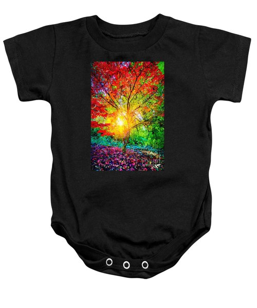 A Tree In Glory Baby Onesie